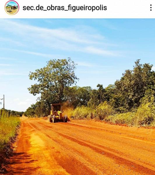 Manutenção das estradas Rurais do Município de Figueirópolis-TO. Gestão 2021-2024. Prefeita Jakeline Pereira e Jaime Soares.