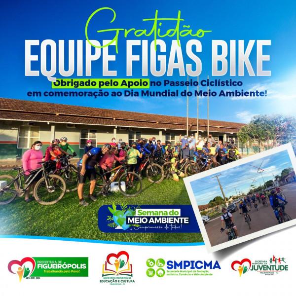 Dia Mundial do Meio Ambiente, a Equipe Figas Bike realizou um passeio ciclístico comemorativo!