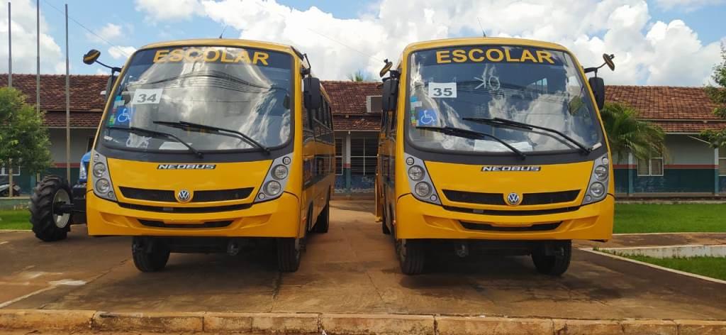 Prefeitura de Figueirópolis-TO- Março 2021- Recebimento de 02(dois) Ônibus Escolares.