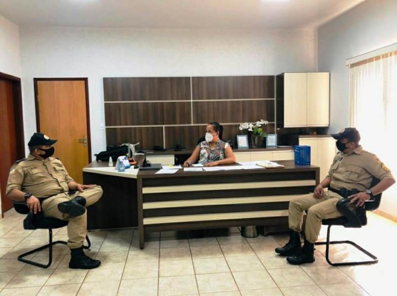 Reunião com Comando do Destacamento da Polícia Militar de Figueirópolis-TO, para combate do COVID 19-