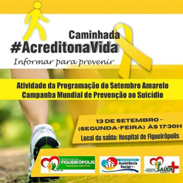 Dia 13 de Setembro de 2021-Caminhada pela Vida, contra o Suicídio.