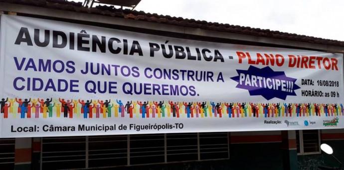 Convocação para Audiência Pública sobre o Plano Diretor Municipal-Prefeitura Municipal de Figueirópolis-TO.