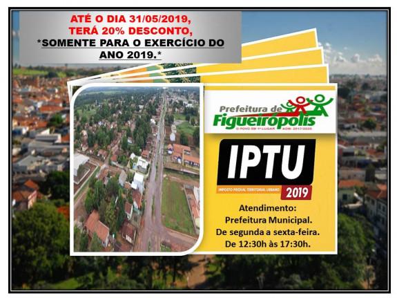 COMUNICADO: Arrecadação do Imposto Predial e Territorial Urbano-IPTU.