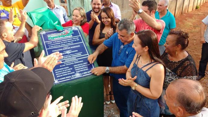 Ano 2016-Inauguração da pavimentação asfáltica nas ruas do Setor Morado do Sol, com cerca de 12 mil metros quadrados de asfaltos.