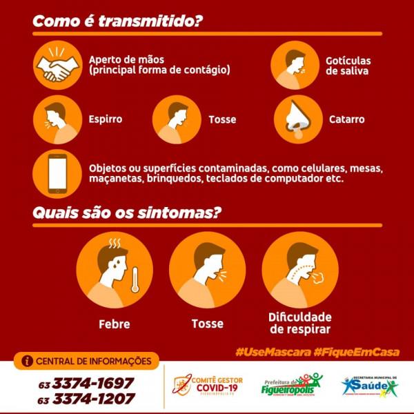 COVID 19 - Figueirópolis-TO. Secretaria. Municipal de Saúde -Informações importantíssimas!!