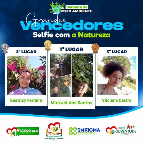 Premiação dos Vencedores do Concurso sobre o Meio Ambiente.
