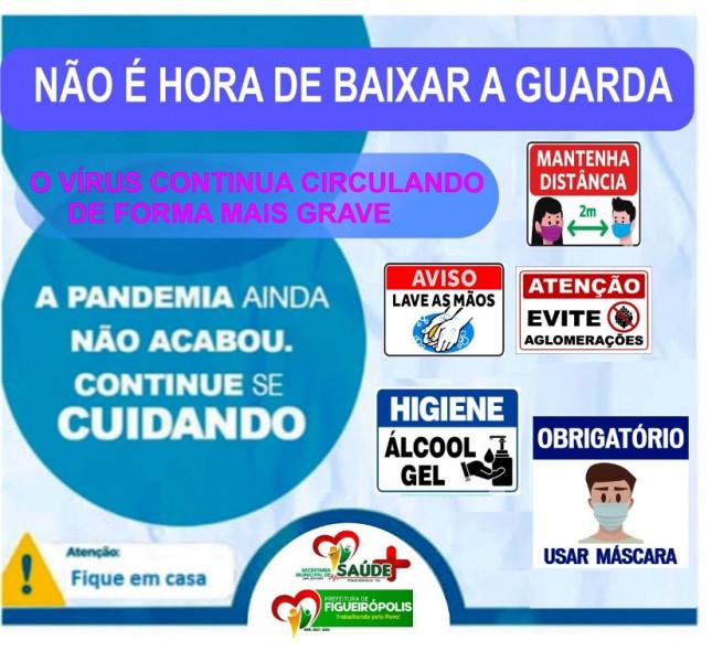 A Secretaria Municipal Saúde de Figueirópolis-TO- Alerta a população sobre a Pandemia-COVID 19.