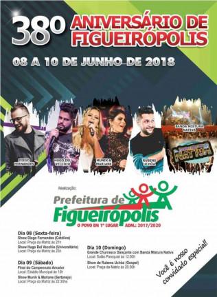 Prefeitura Municipal de Figueirópolis-TO.Festa do 38º Aniversário de Emancipação Política.