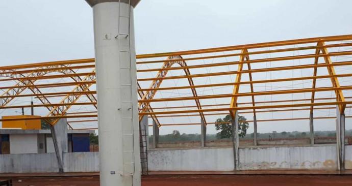 Avanço da Obra de construção da QUADRA de ESPORTES da Escola Municipal Profª  Edileuza B. da Silva Santos