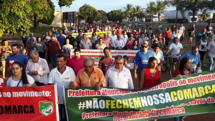 Dia 15/04/2019- Prefeitura de Figueirópolis-TO, Câmara Municipal e Sociedade Civil: Grande Manifestação: #NãoFechemNossaComarca.