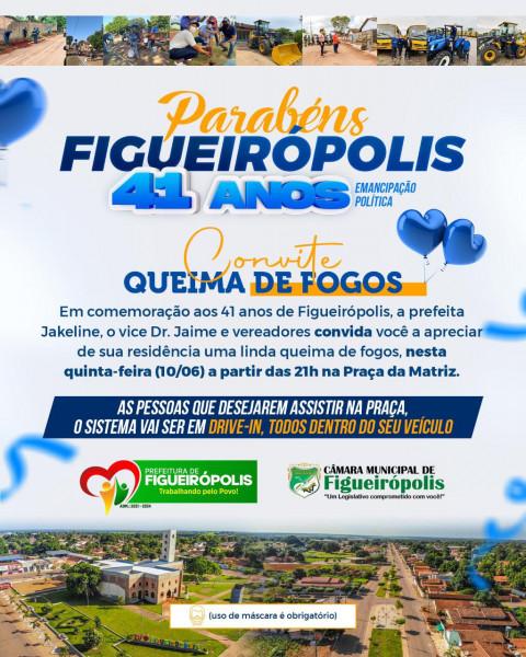 41º Aniversário de Emancipação Política de Figueirópolis-TO-10 de Junho de 2021.