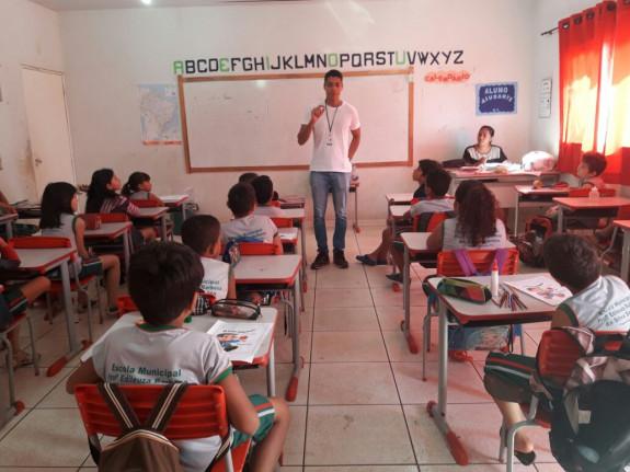 Secretaria Municipal de Saúde- Ano 2017- Prefeitura de Figueirópolis-TO. Palestra sobre combate ao mosquito Aedes Egypti.
