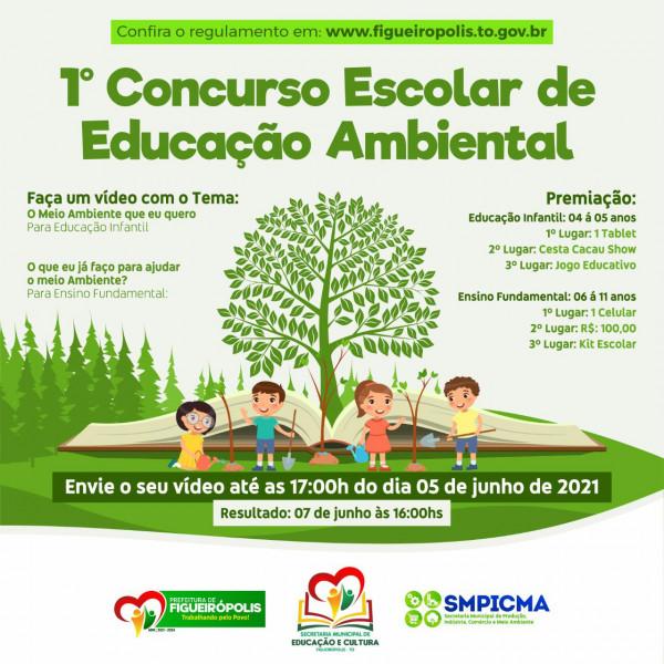 Secretarias Municipais de Educação e Meio Ambiente-SEMEC/SMPICMA -1° Concurso Escolar sobre  Educação Ambiental- Melhores Vídeos.