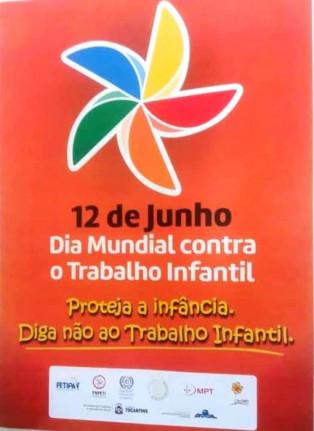 Secretaria Municipal de Assistência Social- CREAS-Campanha do dia 12 de Junho-Dia Mundial contra o Trabalho Infantil.